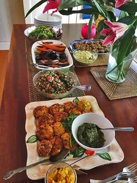 Feast of healthy food