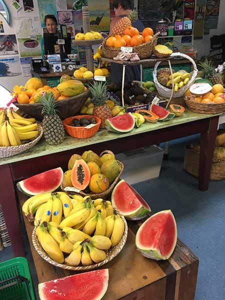 Organic produce stall
