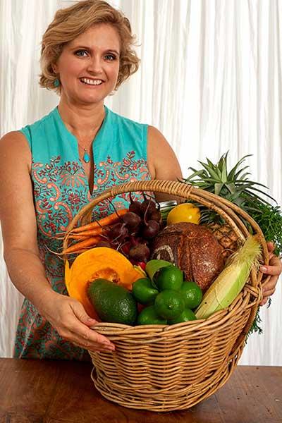 Basket of healthy fruit and veges - Haydie Osborne